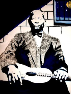 Leadbelly portrait by Ben Carr