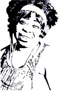 Ma Rainey portrait by Ben Carr