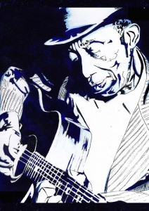 Mississippi John Hurt portrait by Ben Carr