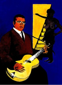 Blind Lemon Jefferson portrait by Ben Carr